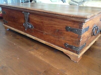 Beautiful, Antique Wooden Chest.