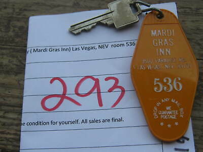 Vintage Casino Hotel Motel Room Key (Mardi Gras Inn) Las Vegas NV room 536