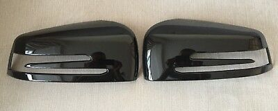 Gloss Black Wing Mirror Covers Fits Mercedes Benz E Class W212 2008-2014 E63