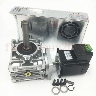 1.1NM Integration Stepper Motor NEMA23+Worm Gear Speed Reducer+250W Power Supply