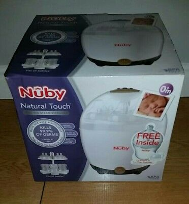 Nuby natural touch electric steam steriliser free bottle dummy fits bottles NEW