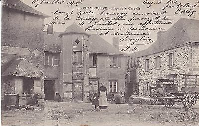 Ancienne Carte Postale - Chamboulive -Place De La Chapelle