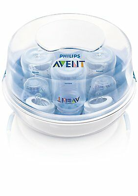 Philips Avent Microwave Steam Sterilizer Lightweight Baby Bottle Sterilizing NEW