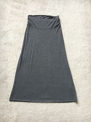 5d7b7222cf05e OLD NAVY Maternity Solid Gray Maxi Skirt with Ruched Sides Small Petite  (SP) - $13.99 | PicClick