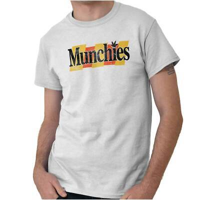 Munchies Stoner Weed Pot High 420 Marijuana Short Sleeve T-Shirt Tees Tshirts