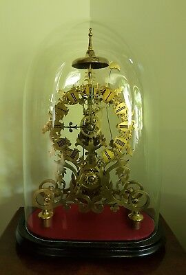 A superb quality chain fusee skeleton clock c1860/70 ornate frame & chapter
