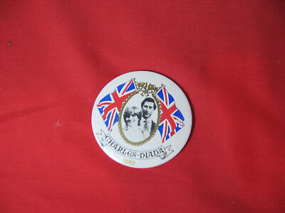 Diana/Charles 1981 Royal Engagement/ Wedding Pinback Button New/ Authentic RARE
