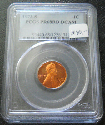1973 S Lincoln Cent PCGS PR68 Red DCAM Deep Cameo Proof