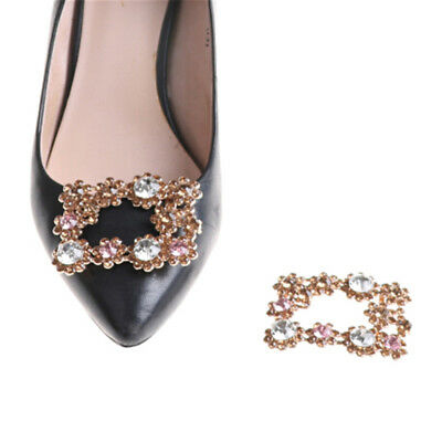 Alloy Crystal Rhinestones Shoe Clips Women Bridal Prom Shoes Buckle New DE