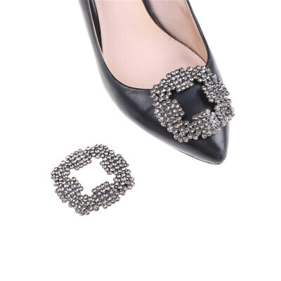 Alloy Rhinestones Crystal Shoe Clips Women Bridal Prom Shoes Buckle Decor New DE