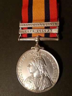 Queens South Africa Medal 2 Clasps Imp Yeomanry