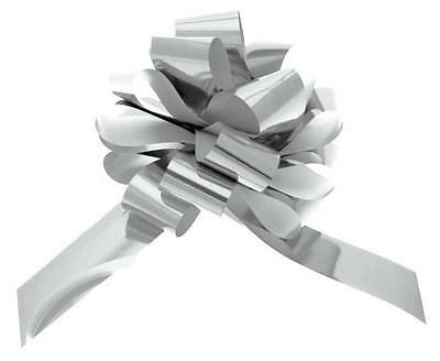 "Bows Large 7"" Round Silver Or Gold Metallic Bow For All Occasion, Cars,gifts Etc"