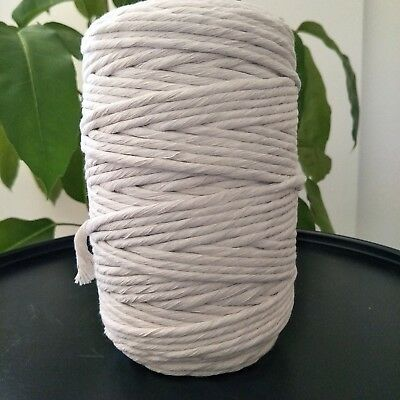 macrame cord 5mm 160m 1kg string rope cotton craft australian seller