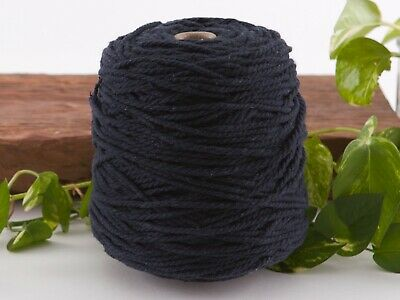 4mm navy macrame rope coloured 3ply cotton cord string strand twisted natural