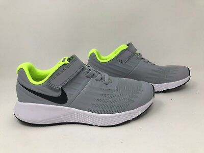 New! Boy's (Youth) Nike 921443-002 Star Running Shoes Gray/Yellow R67