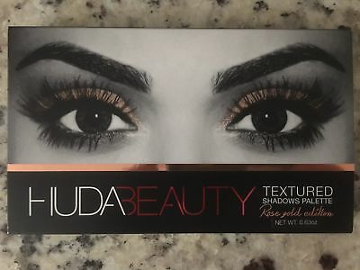 HUDA Beauty Textured Shadows Palette Rose Gold Ed 18 Colors - FREE SHIPPING!!