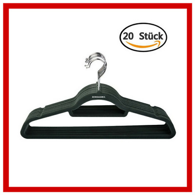 Clothes Hangers Pack of 20 Ultra Thin Non-Slip Surface Dark Green D28