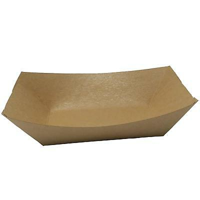 DHUROO Natural Brown Paper Disposable Food Trays Capacity 2/3/5lb  25,50,100,250