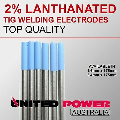5  electrodes 2.4mm X ***175mm***  2% Lanthanated Tungsten TIG Electrode
