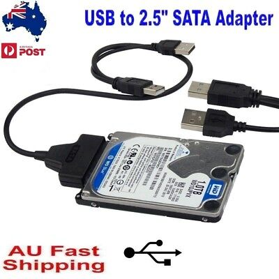 "USB 2.0 To SATA Converter Adapter Cable For 2.5"" Hard Drive Disk HDD Laptop"