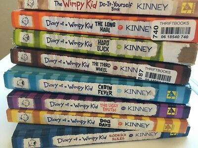 Lot of 10 diary of a wimpy kid book series jeff kinney complete set set of 8 diary of a wimpy kid books jeff kinney hard cover and soft cover solutioingenieria Images