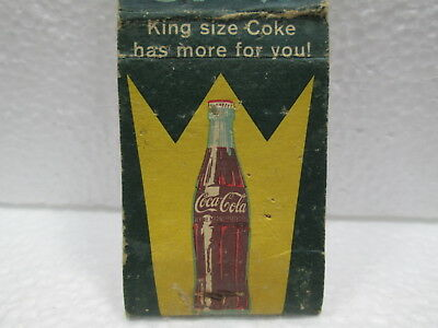 Coke  King Size Coke Has More For You Match Book Cover Striker No Matches