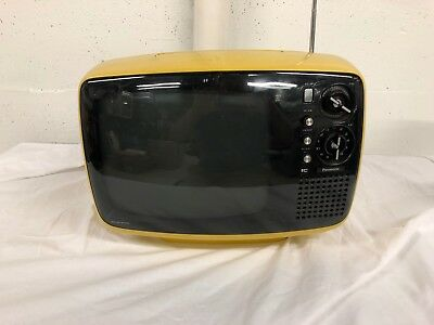 "Vintage TV Panasonic TR-542U 12"" B&W Yellow Version Futuristic Modern Cool AS-IS"
