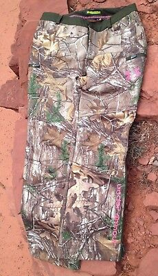 50f584b9b5a6e Under Armour Storm camo pants womens Cold size 10 scent control for hunting