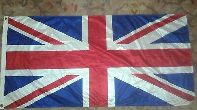 "Brand New Union Jack British Silk Flag 52""x 26"""