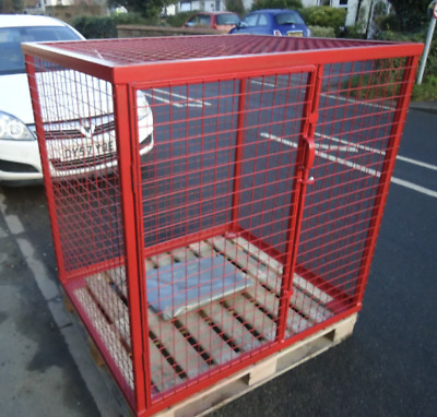 Gas Bottle Security Cage - Fully Welded Steel Box & Angle Iron Frame - 3 Sizes