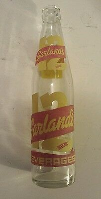 """Rare Canadian (North Bay, Ont) """"garland's"""" 12 Oz  Clear - Red & Yellow Acl"""