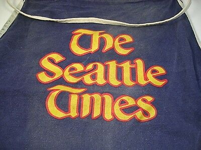 Original 1950s Seattle Times Newspaper Paper Boy Delivery Bag / Apron