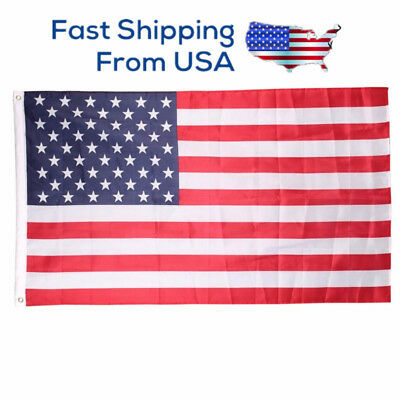 New 3'x5' Polyester Country Banner National Pennant USA Flag FREE SHIP US SELLER