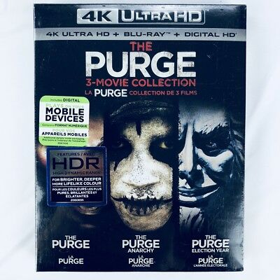 The Purge: 3-Movie Collection (4K Ultra HD/Blu-ray 6-Disc Combo, Bilingual)