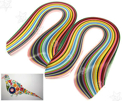 2 Sets of 3mm Quilling Paper Strips 36 Colours Assorted DIY Craft 360pcs 540mm