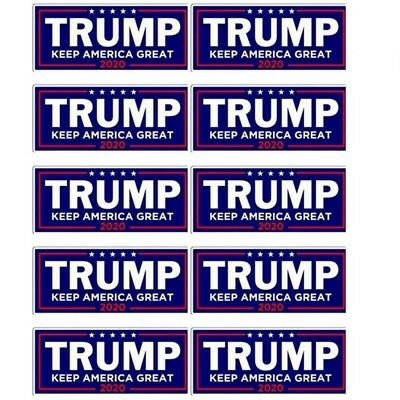 10x Donald Trump President 2020 Bumper Sticker Keep Make America Great Decal A++