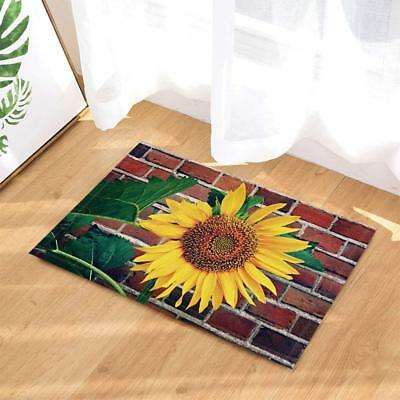Bath Rugs By Sunflower Vintage Red Brick Wall Non-Slip Floor Indoor Kids Bath Ma