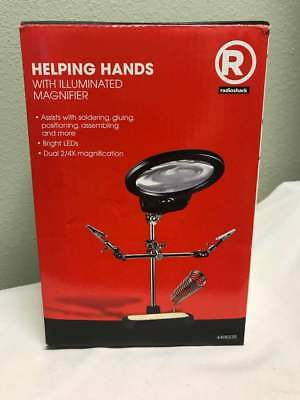 Radio Shack Helping Hands with LED Illuminated Magnifier 6400235