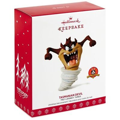 2017 Hallmark TASMANIAN DEVIL Looney Tunes TAZ cartoon porcelain ORNAMENT