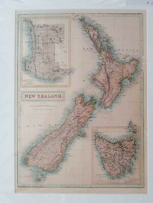 New Zealand antique map.1853