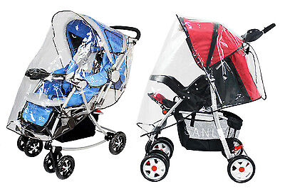 Cover Rain Wind Shield Weather Rain Cover Canopy Universal Size Protect Baby