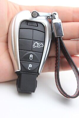 Aluminium Alloy Remote Key Fob Keychain Cover For Dodge Charger Jeep Chrysler