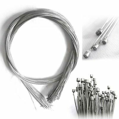 10Pc Road Bike MTB Gear Bicycle Brake Line Shifter Core Inner Cable Wire 2M Tool