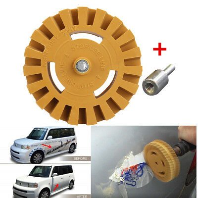 1x Decal Removal Tool Rubber Wheel Car Vinyl Sticker Glue Eraser Polishing Kit