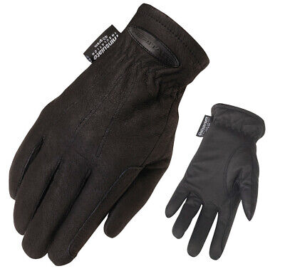 STC Heritage Cold Weather Gloves Black Horse bike riding FREE POSTAGE