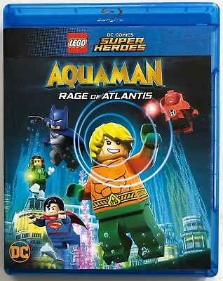 Lego Dc Comics Super Heroes Aquaman Rage Of Atlantis Blu Ray Dvd 2 Disc Set