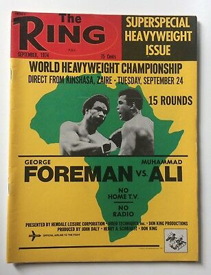 Muhammad Ali vs George Foreman Rumble In The Jungle Cover The Ring Magazine 1974