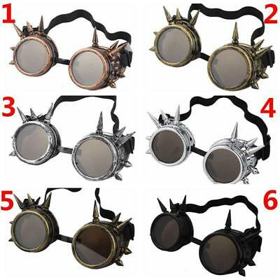 Steampunk Goggles Spike Cyber Goth Cosplay Welding Victorian Vintage Glasses New
