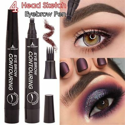 Microblading Eyebrow Tattoo Pen Waterproof Fork Tip Sketch Makeup Ink Full Size
