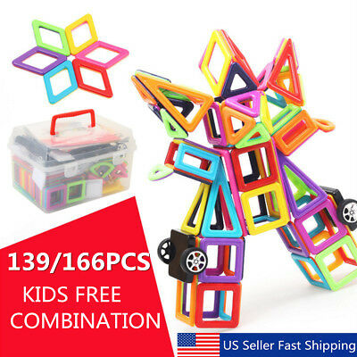 139Pcs Magnetic Building Blocks Construction Children Toys Educational Block Kid
